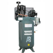 Atlas Copco Two-Stage Electric Air Compressor, Vertical, 5 HP, 208-230V, 1 PH, 80 Gal