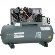 Atlas Copco AR-10, 10HP, Two-Stage Compressor, 120 Gallon, Horizontal, 175 PSI, 35 CFM, 3-Phase 460V