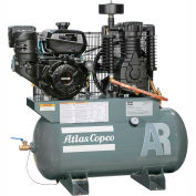 Atlas Copco Two-Stage Gas Air Compressor, Robin, 9 HP, 30 Gal