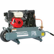 Atlas Copco Two-Stage Gas Air Compressor, Contractor Series, Honda, 9 HP, 10 Gal