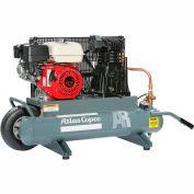 Atlas Copco AR-9, 9 HP, Wheelbarrow Gas Compressor, 10 Gallon, 175 PSI, 18.5 CFM,Honda, Recoil