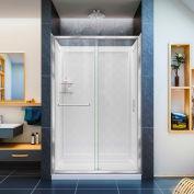 "DreamLine DL-6107C-01CL Infinity-Z Shower Door 36"" x 48"" Shower Base & QWALL-5 Backwalls"