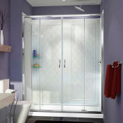"DreamLine DL-6112R-01CL Visions Shower Door 30"" x 60"" Shower Base Right Drain & QWALL-5 Backwalls"