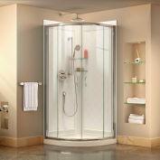 """DreamLine DL-6153-01CL Prime 34 3/8"""" x 34 3/8"""" Shower Enclosure Base & QWALL-4 Shower Backwall Kit"""