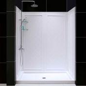 """DreamLine DL-6189C-01 SlimLine 30"""" x 60"""" Shower Base Center Drain & QWALL-5 Shower Backwall Kit"""
