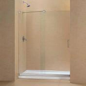 "DreamLine DL-6443R-01CL Mirage Sliding Shower Door & SlimLine 34"" x 60"" Shower Base Right Drain"