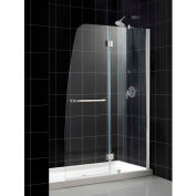 """DreamLine DL-6500L-01CL Aqua Frameless Hinged Shower Door & SlimLine 30""""x60"""" Shower Base Left Drain"""