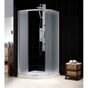 """DreamLine DL-6711-01FR Solo Sliding Shower Enclosure & SlimLine 33"""" x 33"""" Quarter Round Shower Base"""