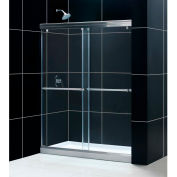 "DreamLine DL-6940C-04CL Charisma xpass Shower Door & SlimLine 30"" x 60"" Shower Base Center Drain"