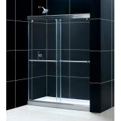 "DreamLine DL-6940L-01CL Charisma xpass Shower Door & SlimLine 30"" x 60"" Shower Base Left Drain"