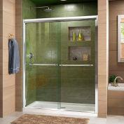 """DreamLine DL-6951C-01CL Duet xpass Sliding Shower Door & SlimLine 32"""" x 60"""" Shower Base Center Drain"""