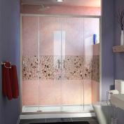 "DreamLine DL-6961L-04CL Visions Sliding Shower Door & SlimLine 32"" x 60"" Shower Base Left Drain"