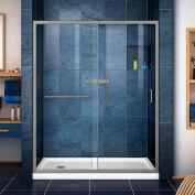 """DreamLine DL-6971L-04CL Infinity-Z Sliding Shower Door & SlimLine 32"""" x 60"""" Shower Base Left Drain"""