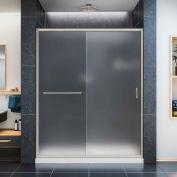 """DreamLine DL-6973C-04FR Infinity-Z Sliding Shower Door & SlimLine 36"""" x 60"""" Shower Base Center Drain"""