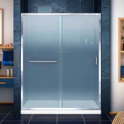 """DreamLine DL-6973R-01FR Infinity-Z Sliding Shower Door & SlimLine 36"""" x 60"""" Shower Base Right Drain"""