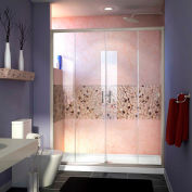 """DreamLine™ Visions Clear Glass Shower Door SHDR-1160726-04, 56""""-60"""" x 72"""""""