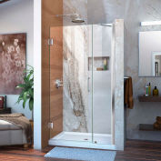 "DreamLine™ Unidoor Frameless Adjustable Shower Door SHDR-20407210-01, 40""-41"""