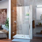 "DreamLine™ Unidoor Frameless Adjustable Shower Door SHDR-20427210S-01 W/Glass Shelves, 42""-43"""