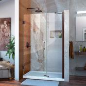 "DreamLine SHDR-20467210-06 Unidoor 46"" - 47"" Frameless Hinged Shower Door Oil Rubbed Bronze Finish"