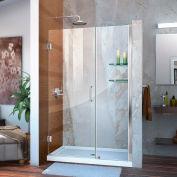 """DreamLine™ Unidoor Frameless Adjustable Shower Door SHDR-20477210S-01 W/Glass Shelves, 47""""-48"""""""