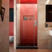 """Dreamline SHDR-243107210-04 Unidoor Plus Hinged Shower Door, Brushed Nickel, 31 to 31-1/2"""" x 72"""""""