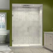 """Dreamline SHDR-244657210-HFR-01 Unidoor Plus Hinged Shower Door, Chrome, 46-1/2 to 47"""" x 72"""""""
