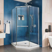 "DreamLine SHEN-2134340-01 Prism 34 1/8"" x 34 1/8"" Frameless Pivot Shower Enclosure Chrome Finish"