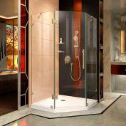 "Dreamline SHEN-2238380-04 PrismLux Hinged Shower Enclosure, Brushed Nickel, 38-1/4"" x 38-1/4"" x 72"""