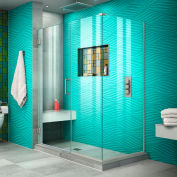 "Dreamline SHEN-24510340-04 Unidoor Plus Hinged Shower Enclosure, Brushed Nickel, 51"" x 34-3/8"" x 72"""