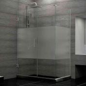 "Dreamline SHEN-24570340-HFR-04 Unidoor Plus Hinged Shower Enclosure, Nickel, 57"" x 34-3/8"" x 72"""