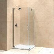 "DreamLine SHEN-4130300-04 Elegance 30"" x 30"" Frameless Pivot Shower Enclosure Brushed Nickel Finish"