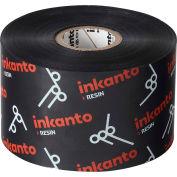 Inkanto AXR 8 Heat Resistant Resin Ribbons, 52mm W x 450m L, Black, 10 Rolls/Case