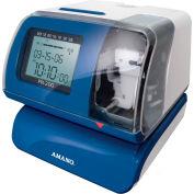 Amano Electronic Time Clock, Blue/White, PIX-200/040