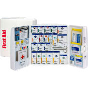 First Aid Only 1000-FAE-0103 Plastic SmartCompliance First Aid Cabinet With Medications, 50 Person