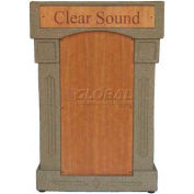 Summit™ DaVinci Lectern, Beige Granite Shell/Maple Front Insert