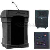 Summit™ DaVinci Freedom Lectern, Black Shell/Black Marble Front Insert