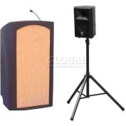 Summit™ Presenter Lectern, Black Shell/Maple Front Insert