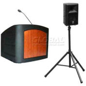 Summit™ Presenter Desktop Lectern, Black Shell/Black Marble Front Insert