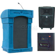 Summit™ DaVinci Freedom Lectern, Blue Granite Shell/Black Marble Front Insert