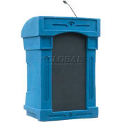 Summit™ DaVinci Integrator Lectern, Blue Granite Shell/Black Marble Front Insert
