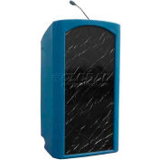 Summit™ Integrator Lectern, Blue Granite Shell/Black Marble Front Insert