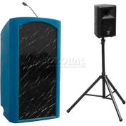 Summit™ Presenter Lectern, Blue Granite Shell/Black Marble Front Insert