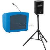 Summit™ Presenter Desktop Lectern, Blue Granite Shell/Maple Front Insert