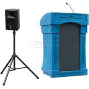 Summit™ DaVinci Presenter Lectern, Blue Granite Shell/Maple Front Insert
