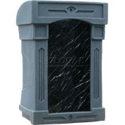 Summit™ DaVinci Lectern, Gray Granite Shell/Black Marble Front Insert