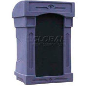 Summit™ DaVinci Lectern, Purple Granite Shell/Black Marble Front Insert