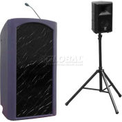 Summit™ Presenter Lectern, Purple Granite Shell/Black Marble Front Insert