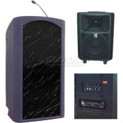 Summit™ Freedom Lectern, Purple Granite Shell/Black Marble Front Insert