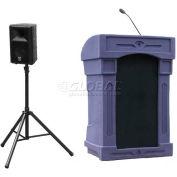 Summit™ DaVinci Presenter Lectern, Purple Granite Shell/Maple Front Insert