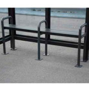 Anti Vagrant Bench for 10' Bus Smoking Shelter, Bronze
